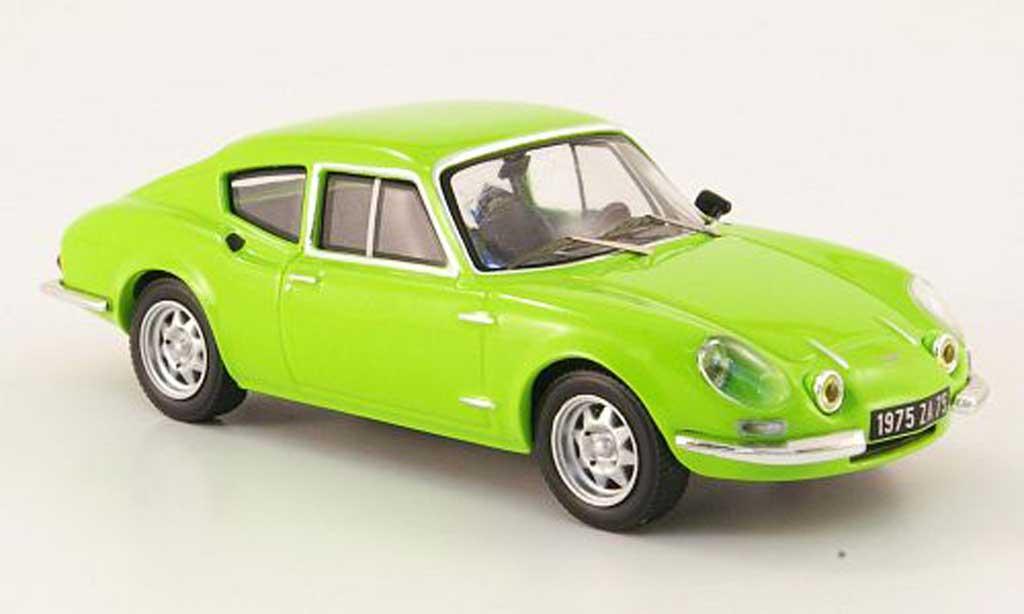 Simca CG 1/43 IXO 1300 Coupe verde 1973 miniatura