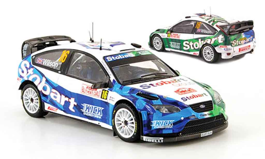 Ford Focus RS WRC 1/43 IXO 07 No.16 Rally Monte Carlo 2008 miniature
