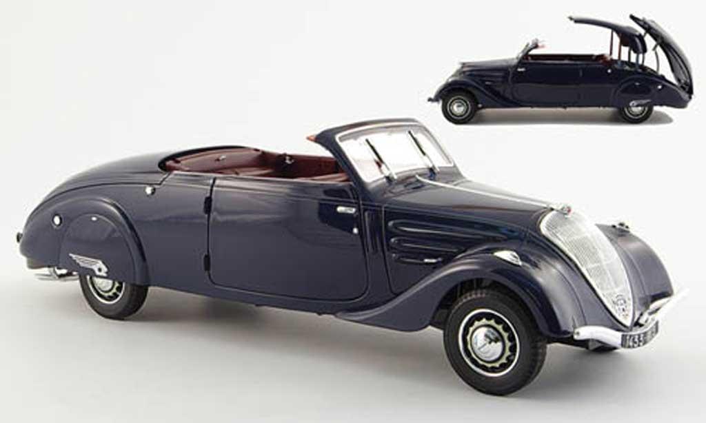 Peugeot 402 1/18 Norev eclipse bleu 1937 miniature