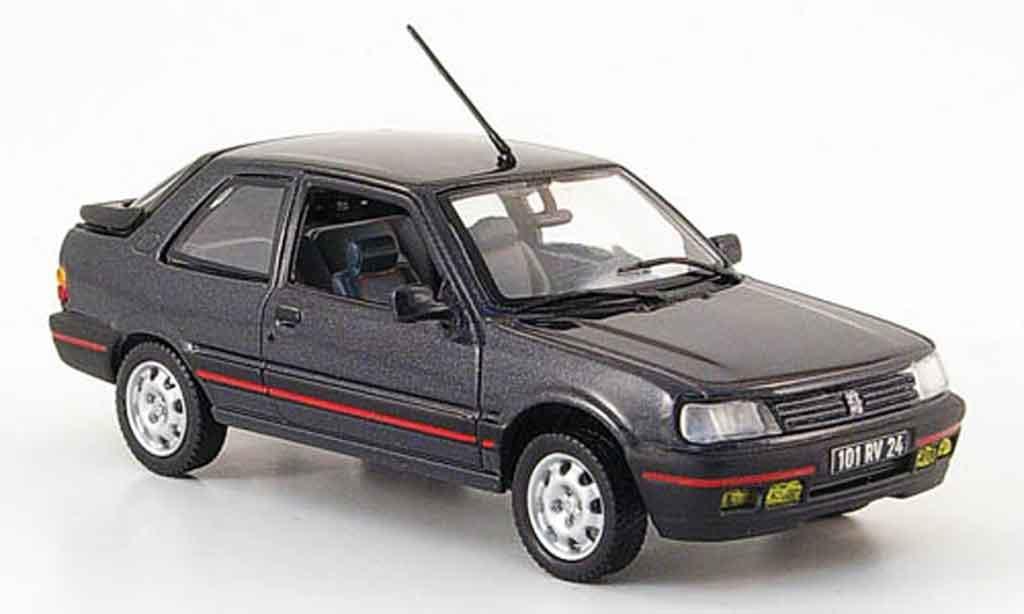 Peugeot 309 GTI 1/43 Norev anthrazit 1987 miniature