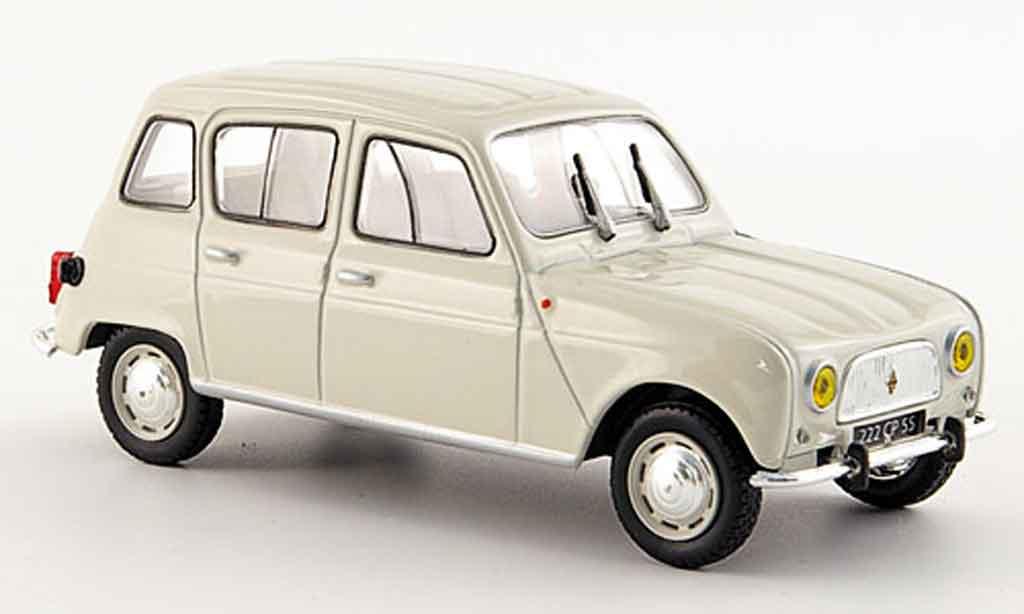 Renault 4 R3 1/43 Norev beige 1962 miniature