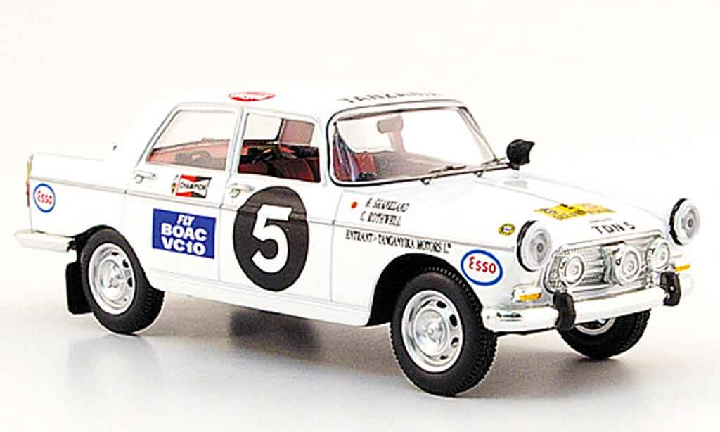 Peugeot 404 Berline 1/43 Norev no.5 east african safari rallye 1967 miniature