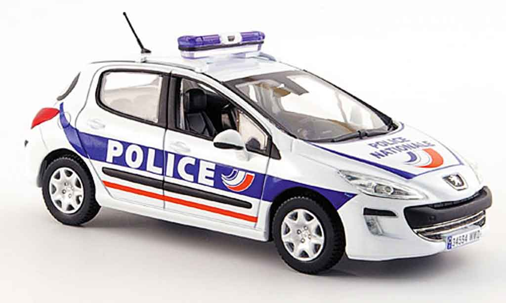 Peugeot 308 1/43 Norev police funfportes police 2008 modellautos