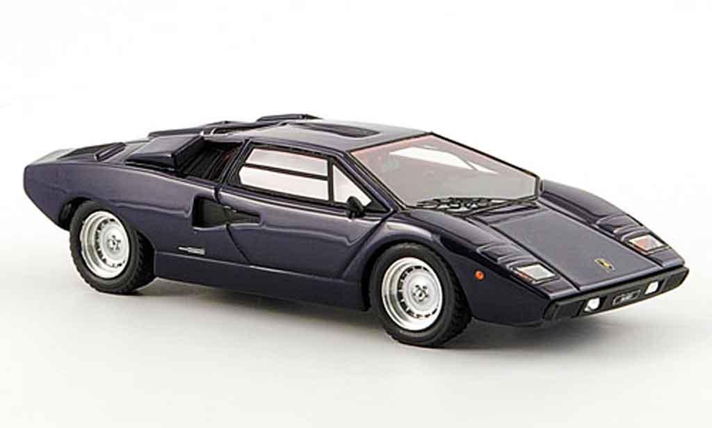 Lamborghini Countach LP 400 1/43 Look Smart bleu 1978 miniature