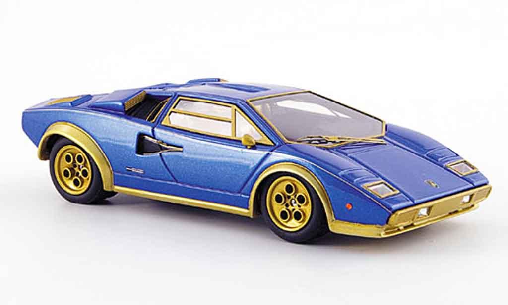 Lamborghini Countach LP 500 1/43 Look Smart s walterwolf bleu mattor miniature