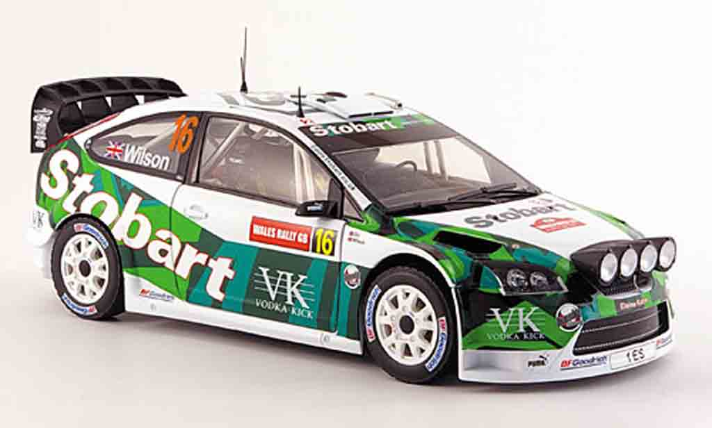 Ford Focus RS WRC 1/18 Sun Star no.16 wilson/orr rallye pays de galles 2007 miniature