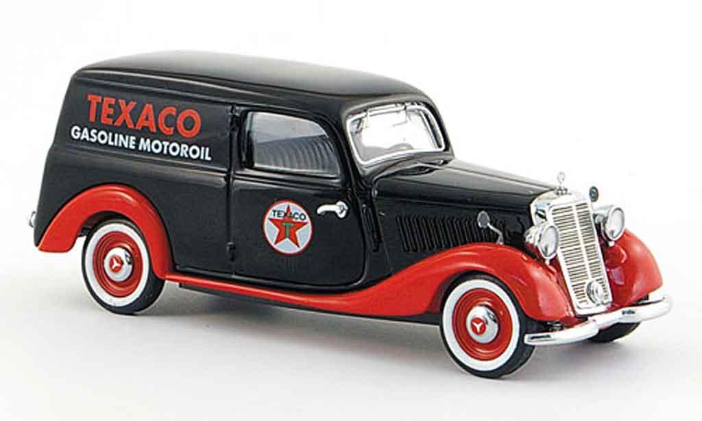 Mercedes 170 1/43 Schuco V Kasten Texaco noire rouge miniature