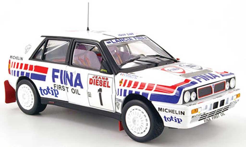 Lancia Delta HF Integrale 1/18 Sun Star 16v no.1 fina rallye san remo 1991 miniatura