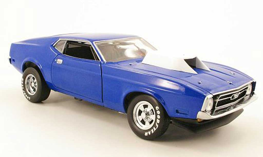 Ford Mustang 1971 1/18 Sun Star pro stock bleu miniature