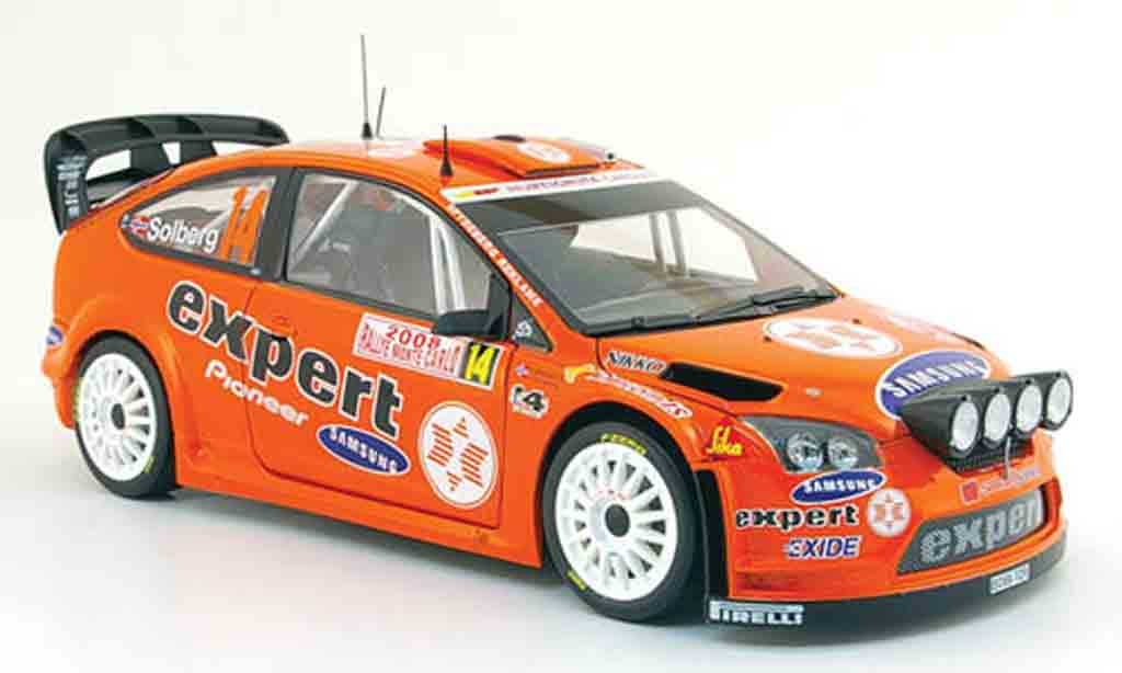 Ford Focus RS WRC 1/18 Sun Star no.14 expert rallye monte carlo 2008 miniature