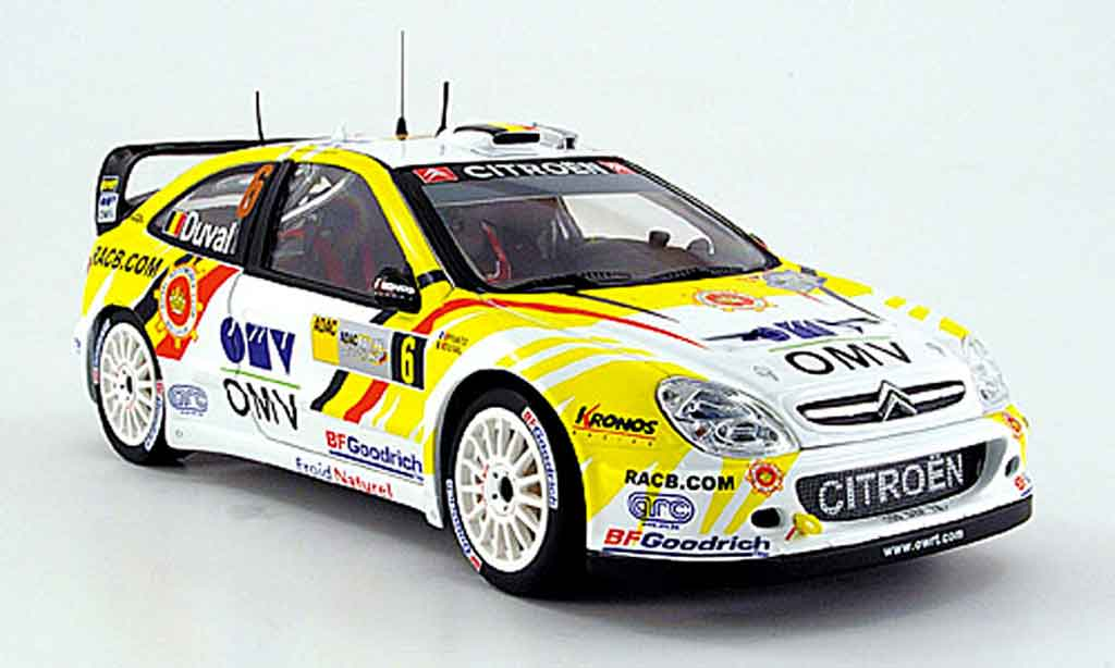 Citroen Xsara WRC 2007 1/18 Sun Star no.6 duval/pivato rallye allemagne miniature