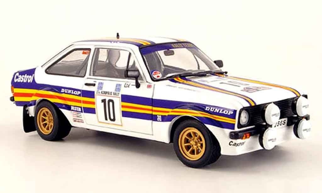 Ford Escort MK2 1/18 Sun Star rs no.10 rougehmans rallye akropolis 1980 miniature