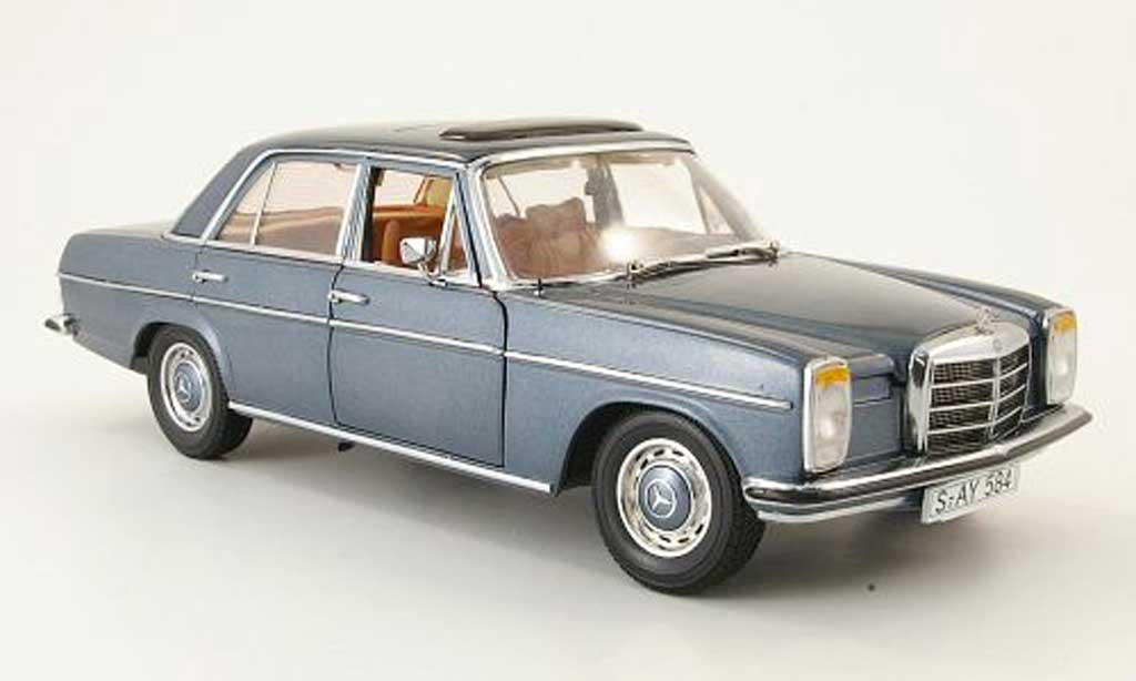 Mercedes Strich 1/18 Sun Star 8 (w 115) gray et blue limousine 1968 diecast