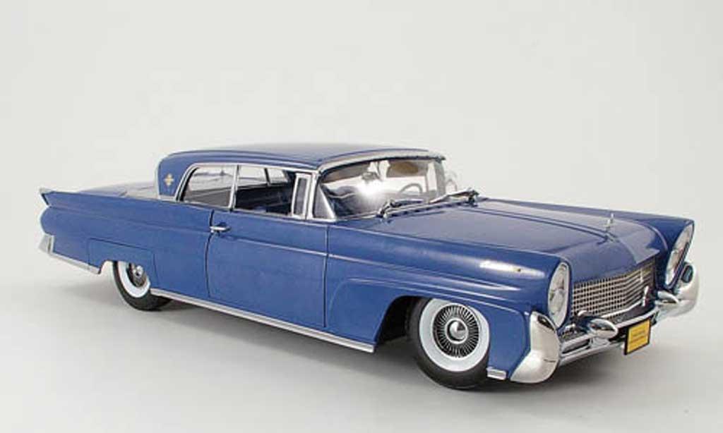 Lincoln Continental 1958 1/18 Sun Star mark iii hard top bleu miniature
