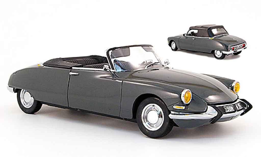 Citroen DS 19 1/18 Sun Star cabriolet grise 1961 miniature