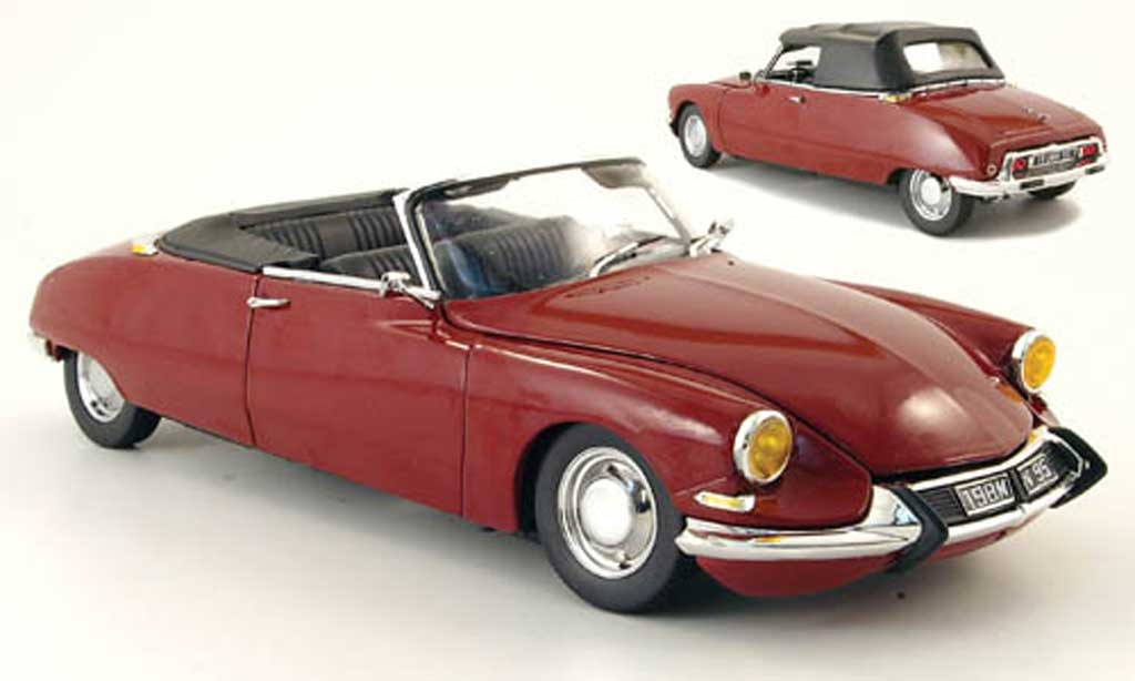Citroen DS 19 1/18 Sun Star cabriolet rouge 61 miniature