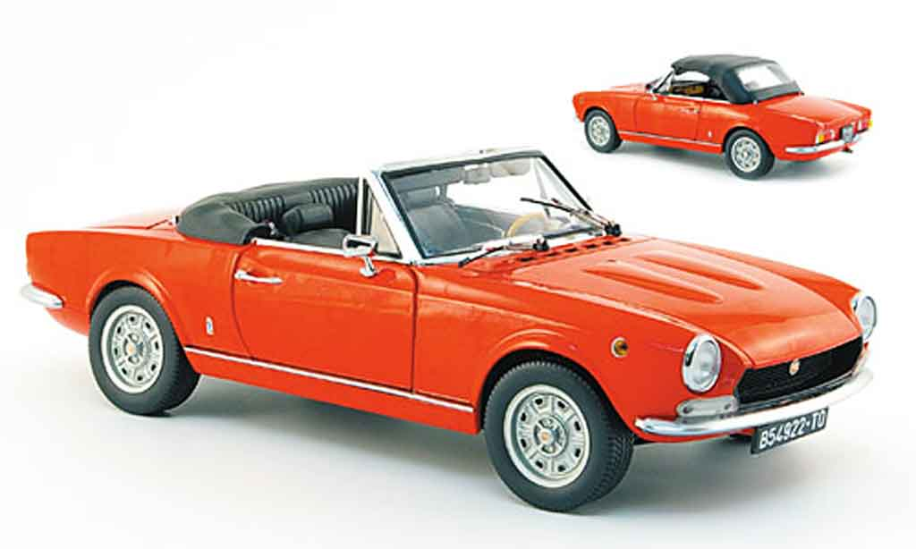 Fiat 124 Spider 1/18 Sun Star bs1 red 1970 diecast