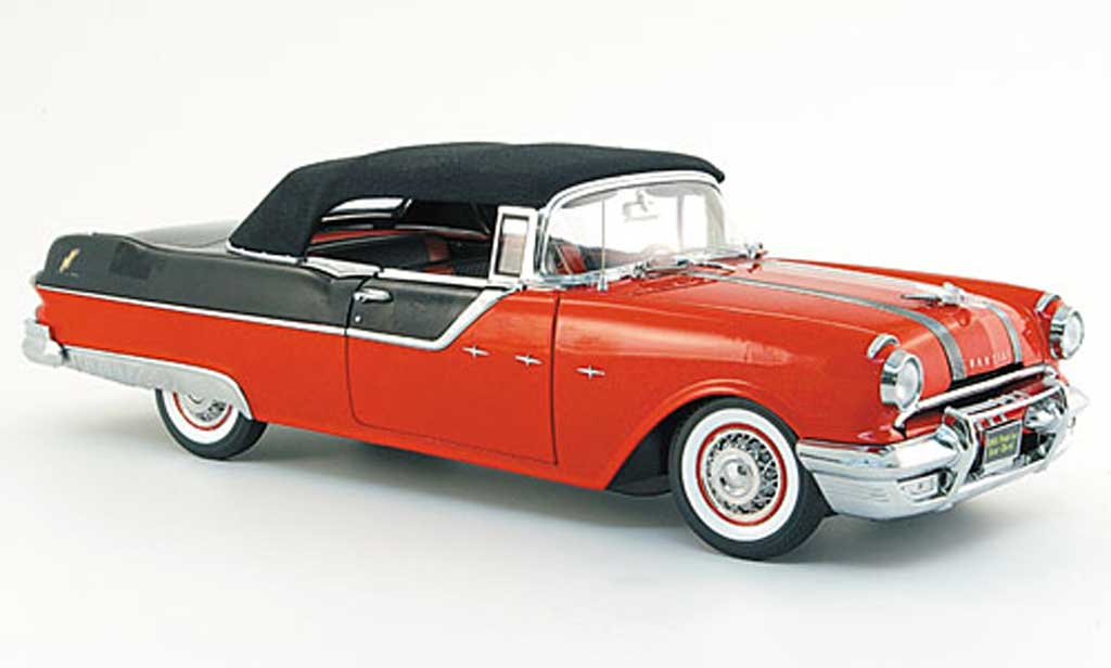 Pontiac Star Chief 1/18 Sun Star convertible rouge noire 1955 miniature