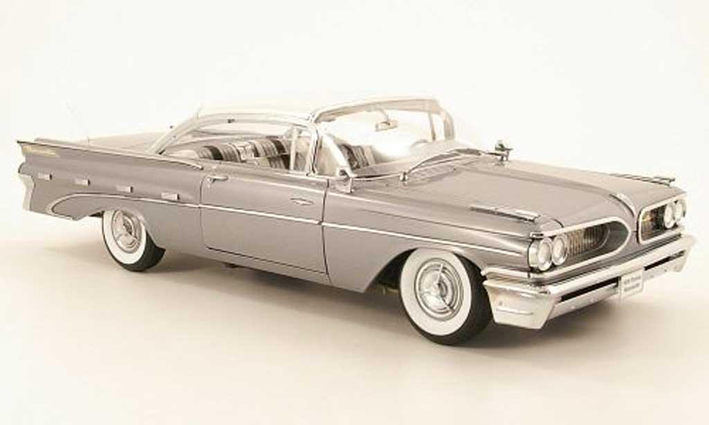 Pontiac Bonneville 1/18 Sun Star hard top grise metallisee et beige 1959 miniature