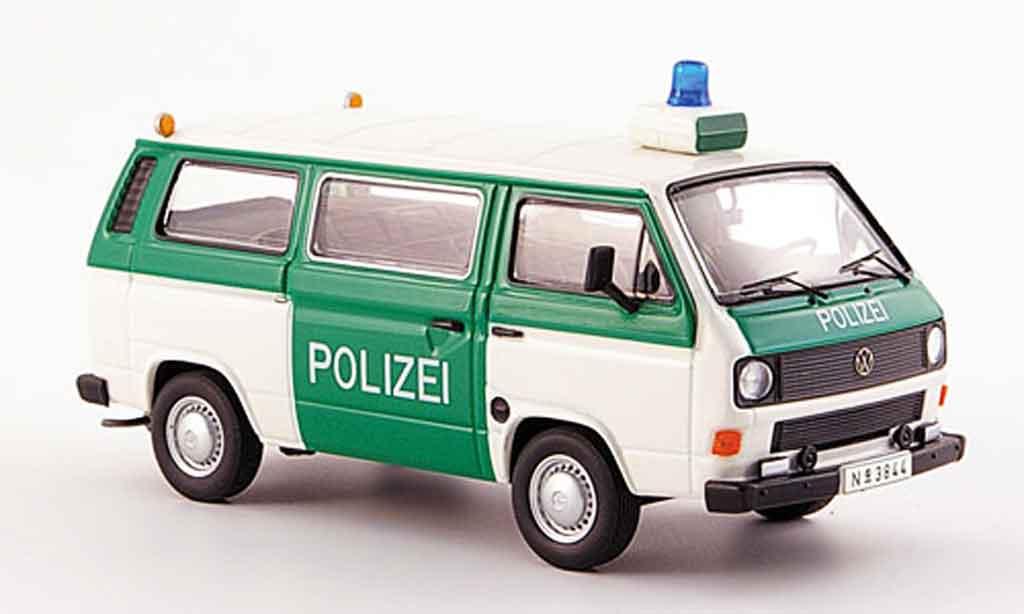 Volkswagen Combi 1/43 Premium Cls t3b bus police blanche verte miniature