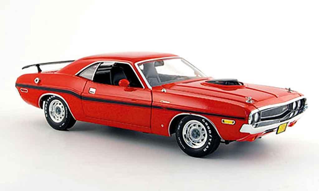 Dodge Challenger 1970 1/18 Greenlight r t 426 hemi rouge noire miniature