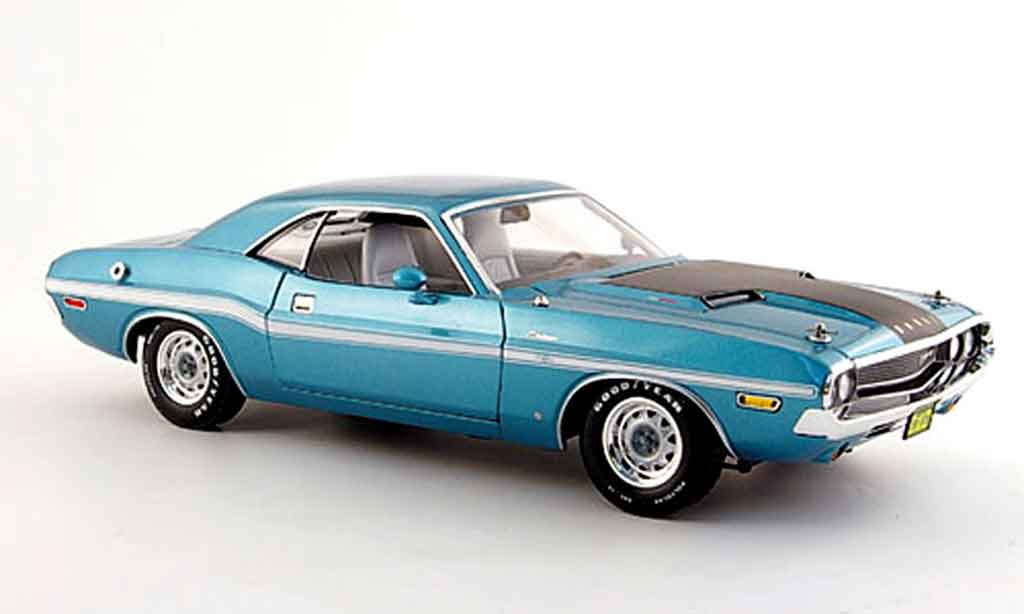 Dodge Challenger 1970 1/18 Greenlight r t 383 magnum turkis noire miniature