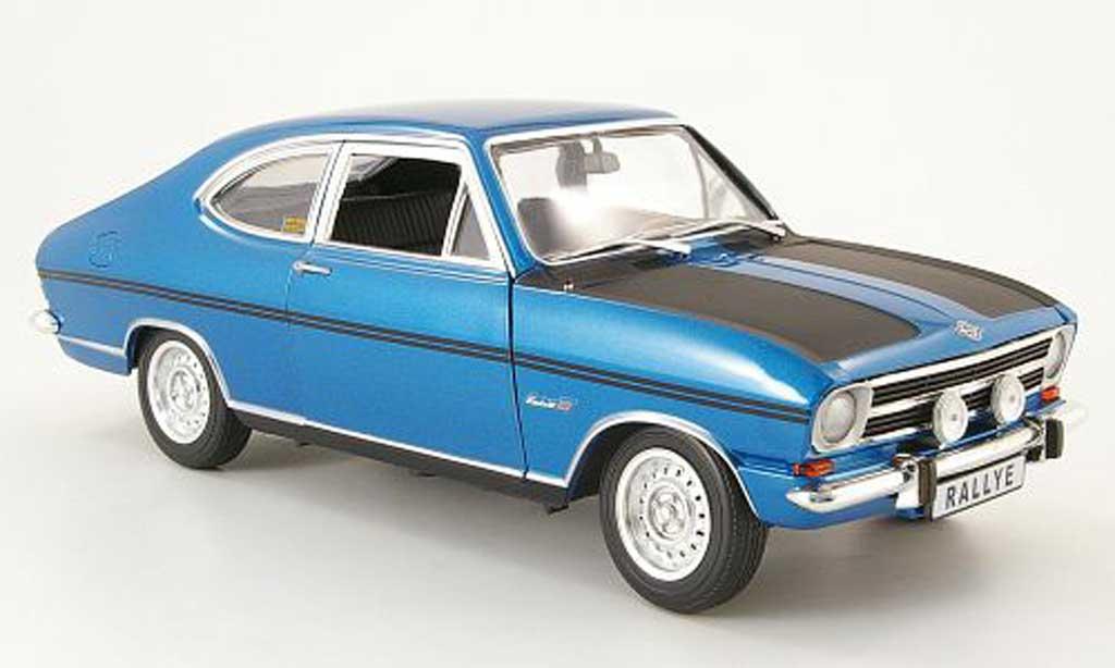 Opel Kadett coupe 1/18 Revell b rallyee 1900 bleu/noire 1969 miniature