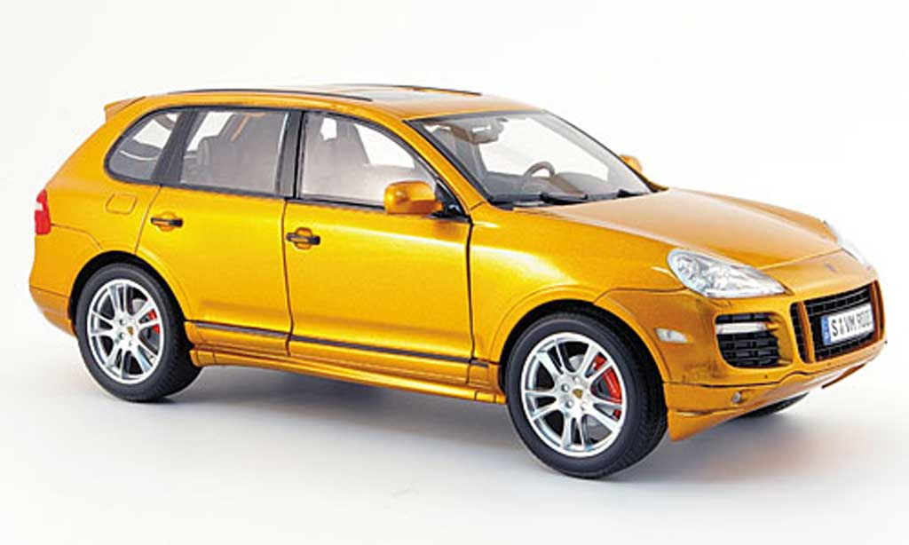 Porsche Cayenne GTS 1/18 Norev orange 2008 diecast model cars