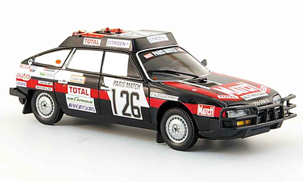 Citroen CX 1/43 Norev 2400 gti no.126 rallye dakar 1981 diecast model cars