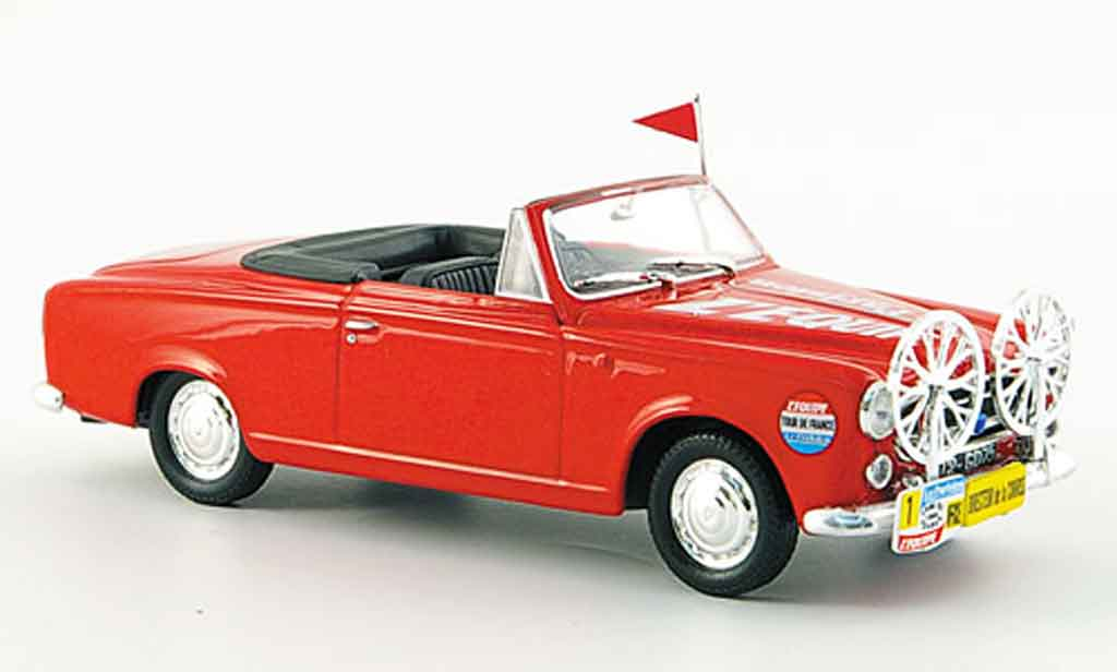 Peugeot 403 Cabriolet 1/43 Norev direction de course tour de france 1960 miniature