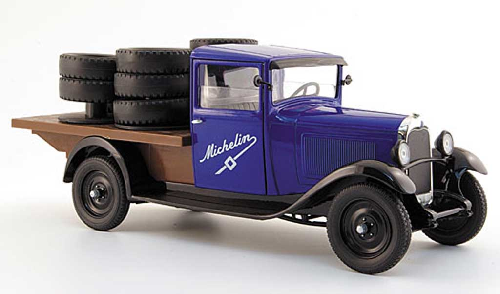 Citroen C4 1930 1/18 Solido pritsche michelin mit ladegut miniature