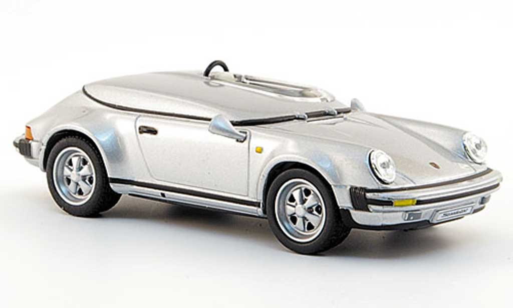 Porsche 930 Speedster 1/43 Solido Race Version grise 1987 miniature