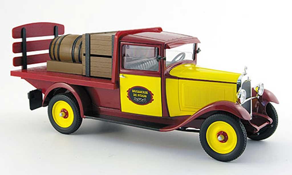 Citroen C4 1930 1/18 Solido pritsche brasseur red/yellow mit ladegut diecast