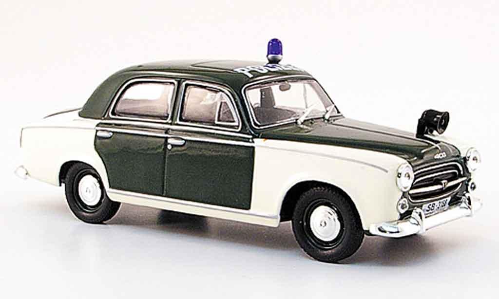 Peugeot 403 Berline 1/43 Norev police saarbrucken 1959 miniature