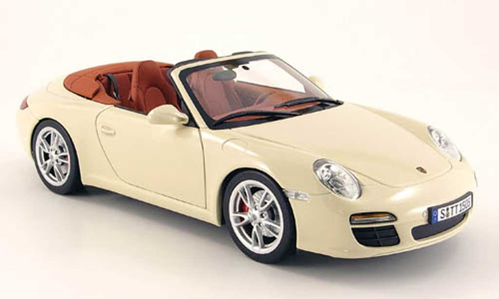 Porsche 997 Carrera 1/18 Norev cabriolet creme blanche 2008 miniature