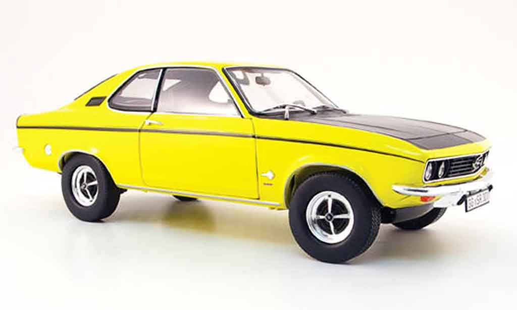 Opel Manta 1/18 Norev sr jaune noire 1970 miniature
