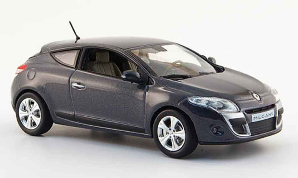 Renault Megane 1/43 Norev coupe grise 2009 miniature
