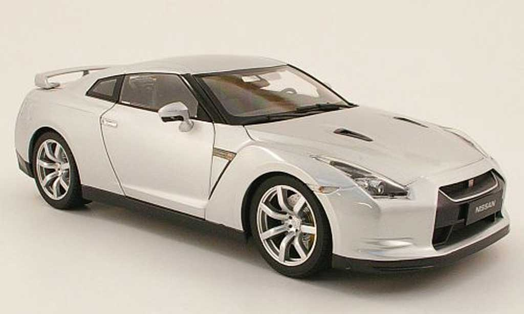 Nissan Skyline R35 1/18 Norev gtr grey 2008 diecast model cars