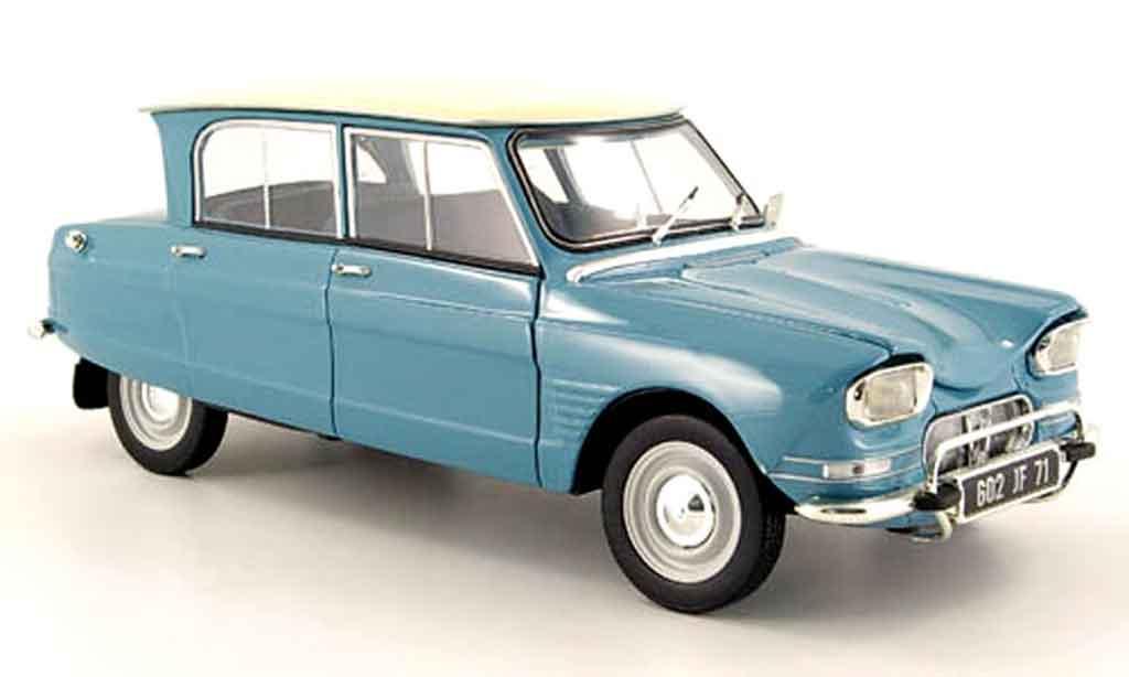 Citroen Ami 6 1/18 Norev bleu whitees dach 1963 diecast model cars