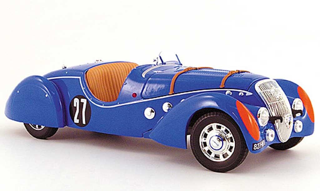 Peugeot 302 Roadster 1/18 Norev Darl'Mat no. 27 24h le mans 1937 miniature