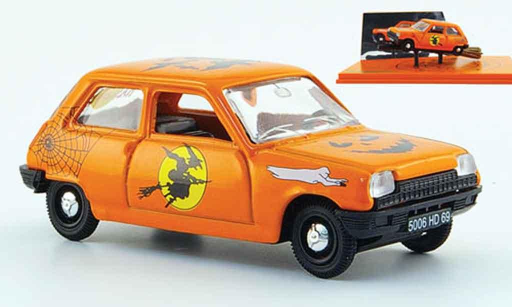 Renault 5 1/43 Norev orange halloween 1972 miniature