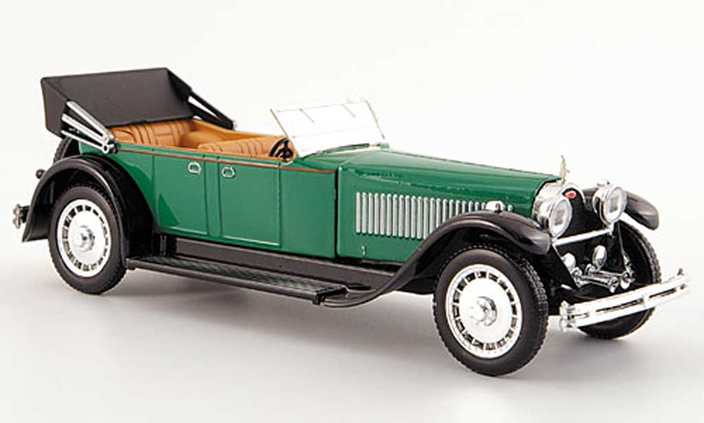 Bugatti 41 1/43 Rio Royale Torpedo grun/noire mit Motornachbild 1928 miniature