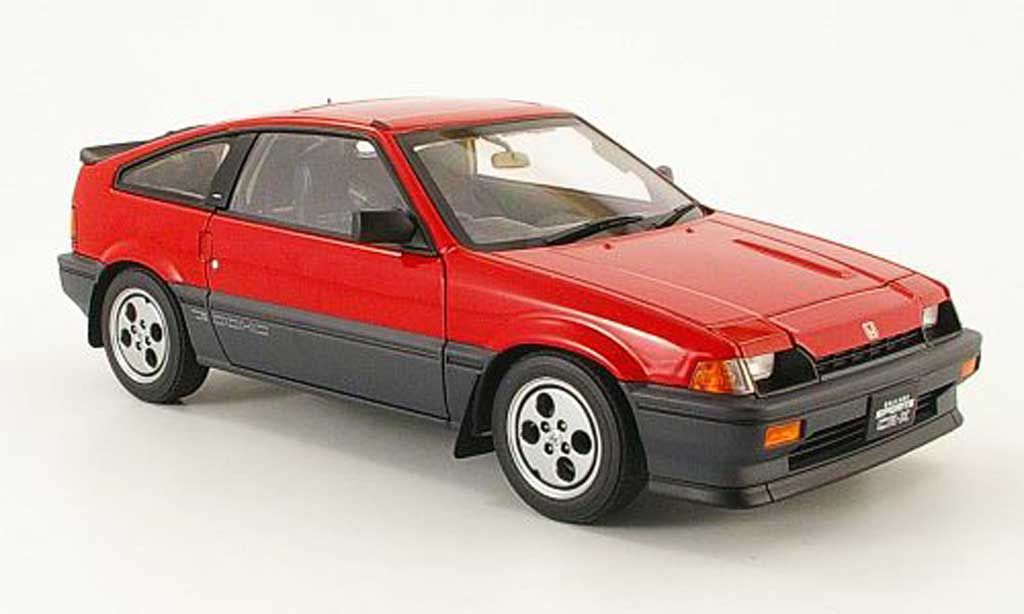 Honda CRX Si 1/18 Autoart ballade sports cr-x rouge 1984 miniature