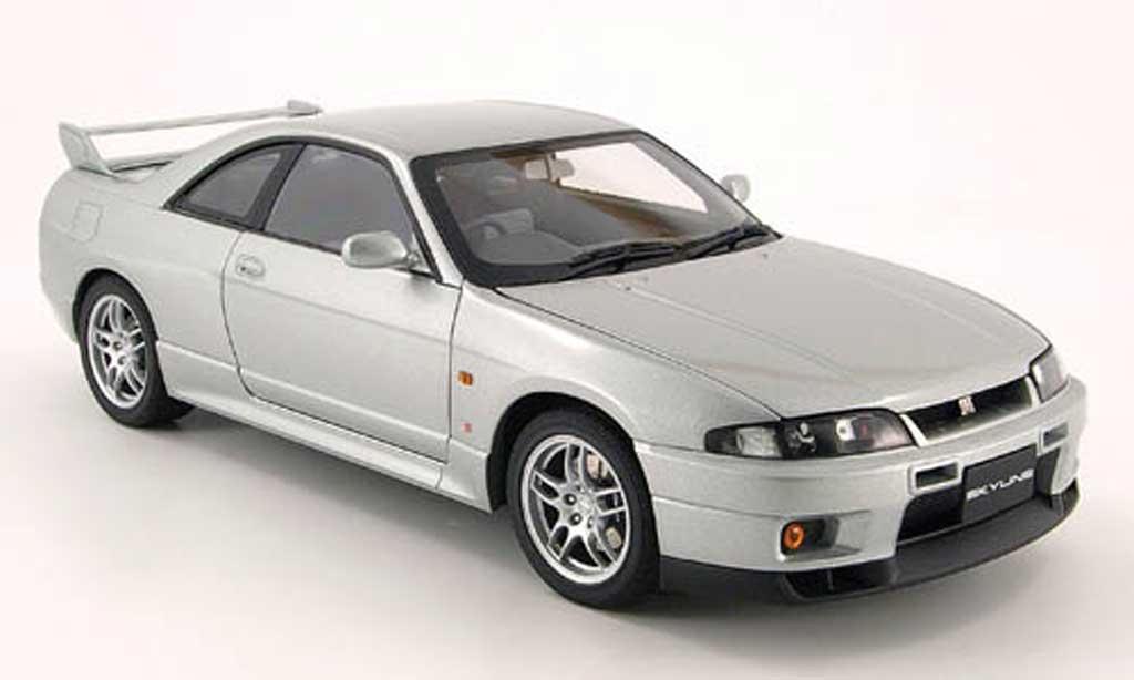 Nissan Skyline R33 1/18 Autoart r33 gt-r v-spec grau 1997 modellautos