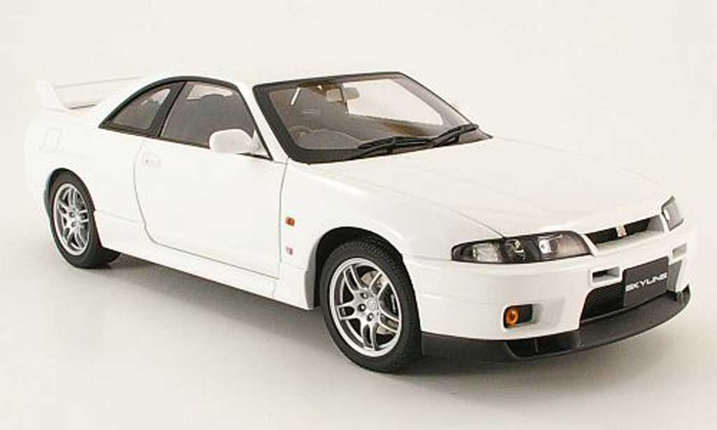 Nissan Skyline R33 1/18 Autoart gt-r v-spec white 1997 diecast model cars