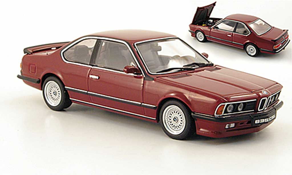 Bmw 635 CSI 1/43 Autoart M rouge miniature