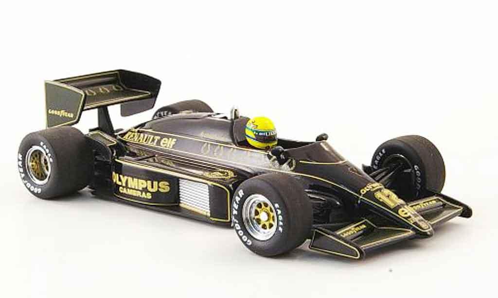 Renault F1 1/43 Minichamps lotus 97t no.12 olympus a.senna saison 1985 miniature