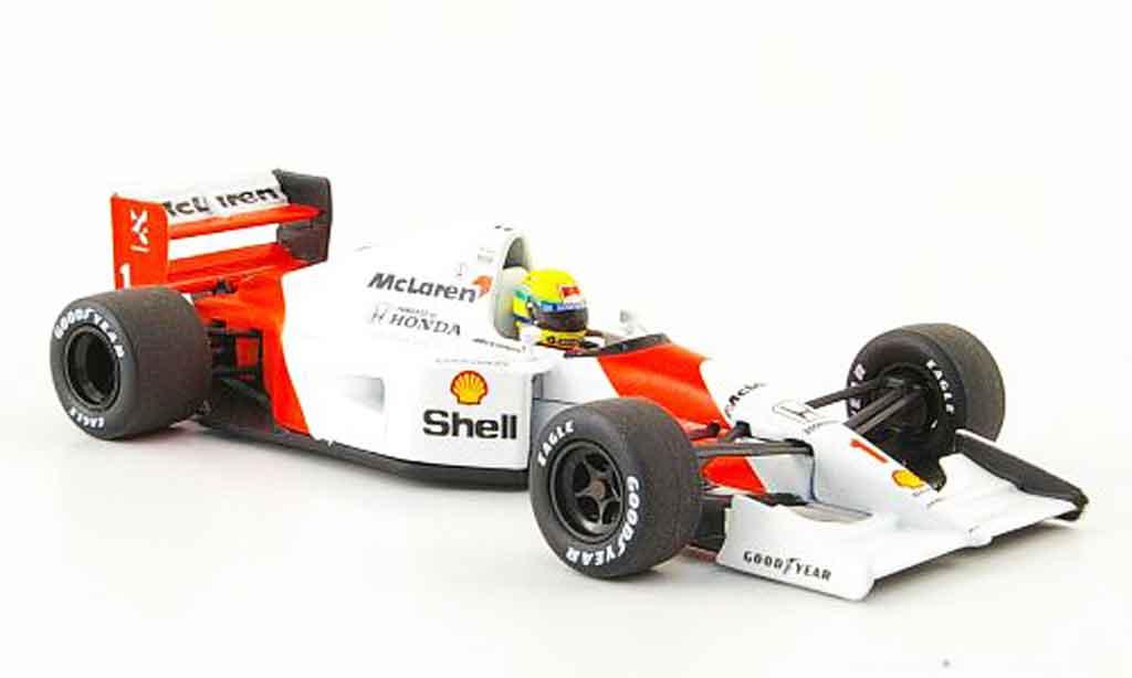 Honda F1 1/43 Minichamps McLaren MP 4 7 No.1 A.Senna Saison 1992 miniature