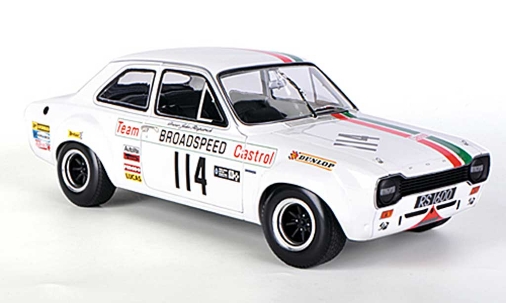 Ford Escort RS 1600 1/18 Minichamps Team Broadspeed Castrol J.Fitzpatrick Race of Champions Meeting 1971 miniature