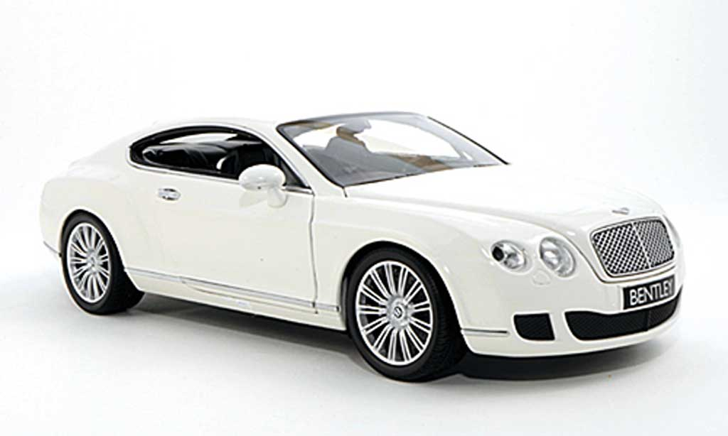 Bentley Continental GT 1/18 Minichamps white 2008 diecast model cars